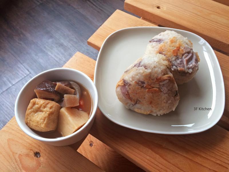 芋頭香菇油豆腐炊飯飯糰+筑前煮 / 全素