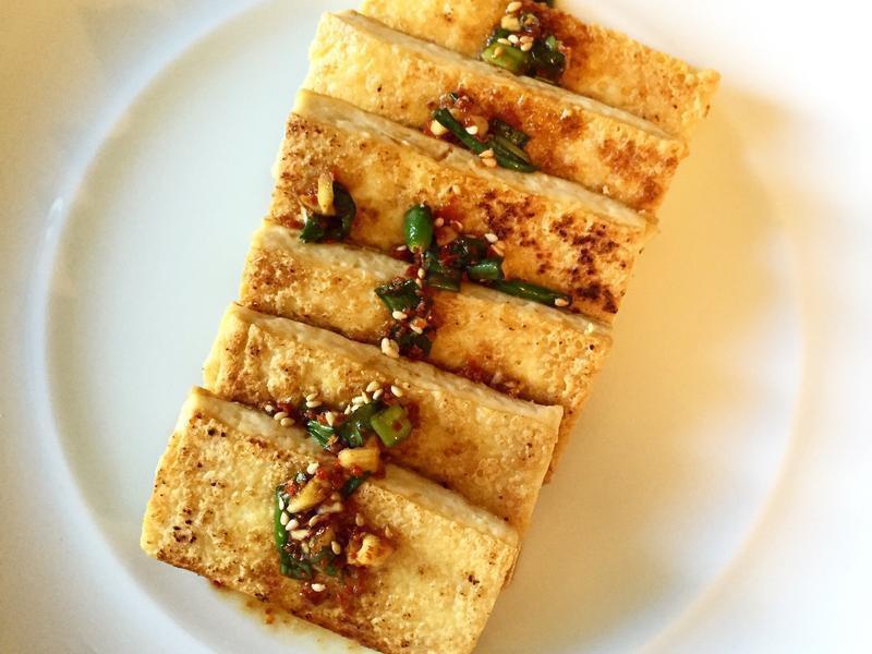 韓式煎豆腐두부부침