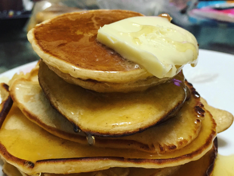 用低筋麵粉做美式鬆餅~