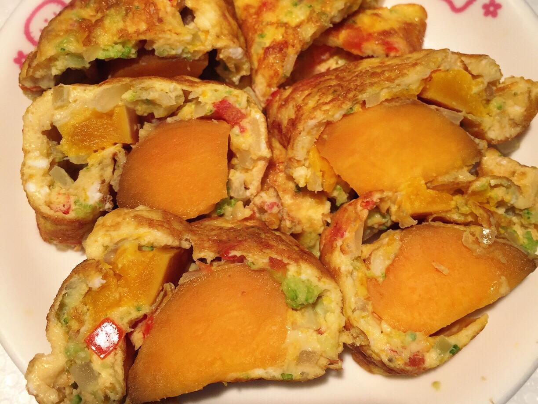 蕃薯蔬菜蛋捲🍠[健康早餐]