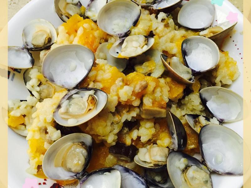 南瓜蛤蜊燉飯