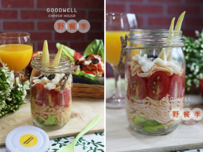 【野餐季】新鮮馬自瑞拉蕃茄冷麵沙拉