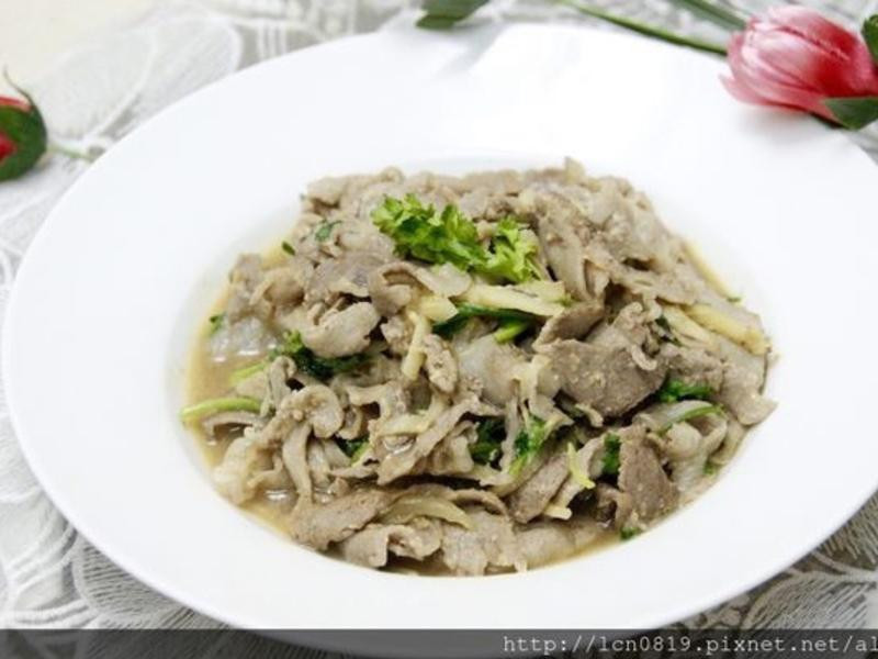 味噌薑燒梅花豬肉片