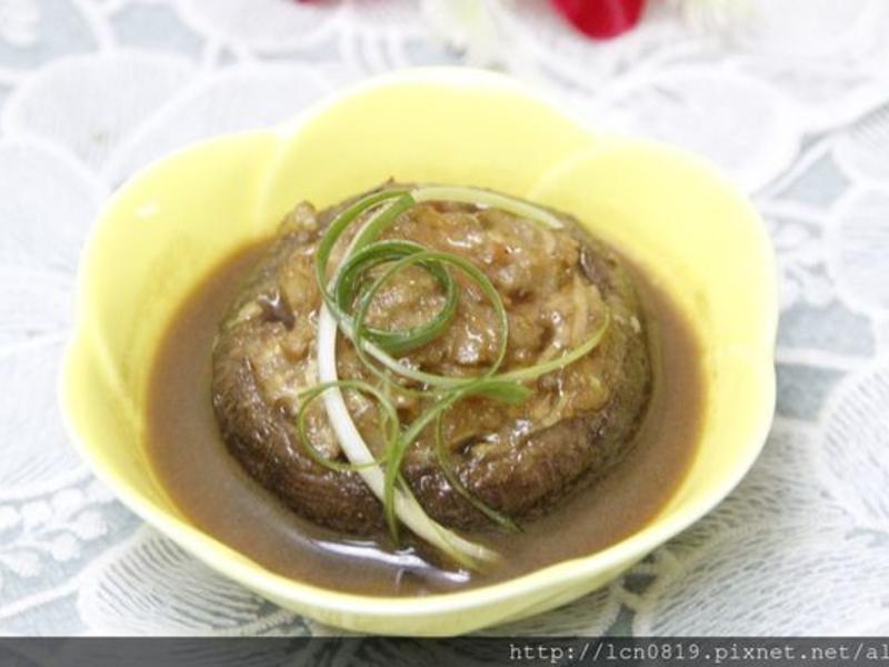 塩麴醬燒香菇鑲肉(花枝)