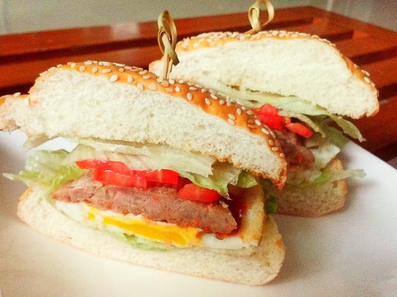 早餐漢堡肉排
