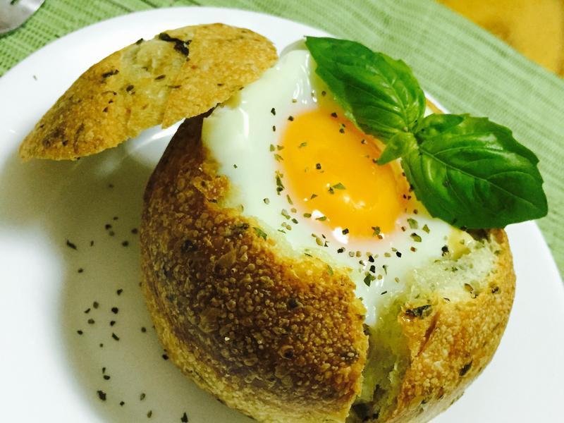 太陽蛋麵包盅