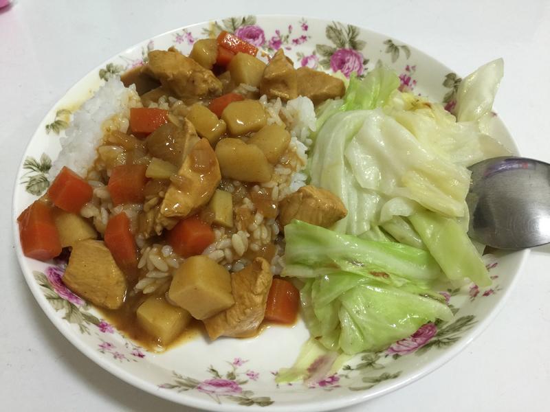 幸福肥人妻料理-營養滿分咖喱雞肉飯