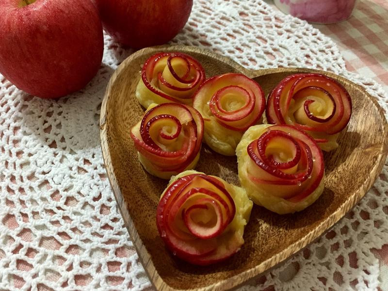 玫瑰蘋果酥派