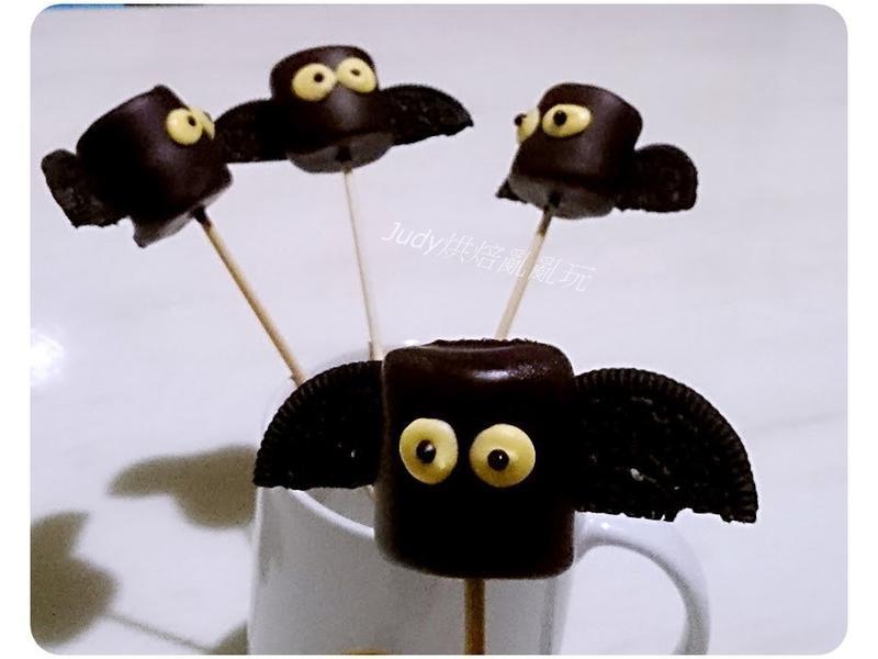 萬聖節~蝙蝠巧克力棉花糖