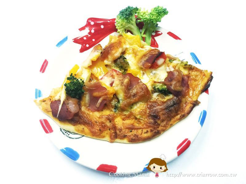 茄汁火腿彩椒手工pizza