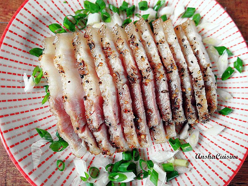醃漬豬五花鹹豬肉