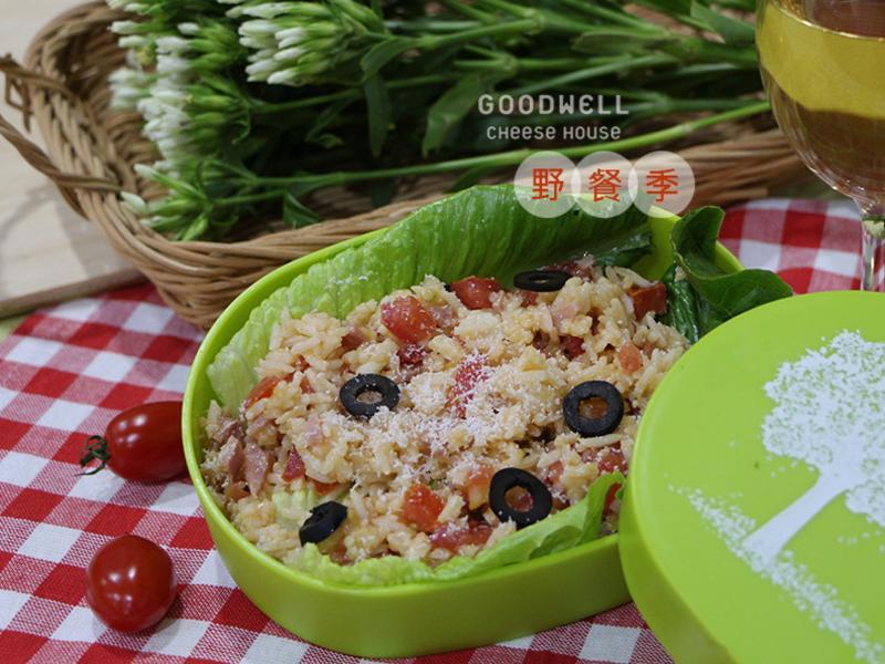 【野餐季】蕃茄鮮蔬米沙拉(巴薩米克風)