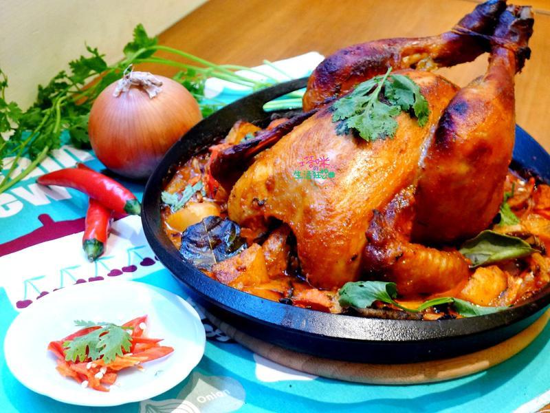 椰香紅咖哩烤雞
