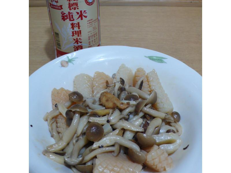 酒香麻油蒟蒻鮮菇
