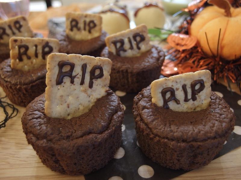 【萬聖節】墓碑可可蛋糕(無油無泡打粉)