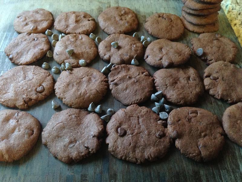 美國傳統雙重巧克力豆脆片餅乾♥!