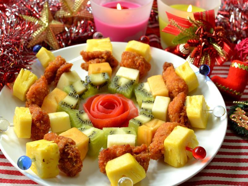 韓式炸雞水果串【小七派對美食】