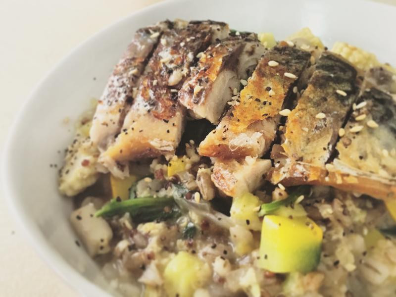 鹹漬鯖魚燉飯