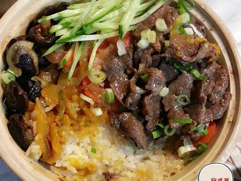 南瓜牛肉煲仔飯