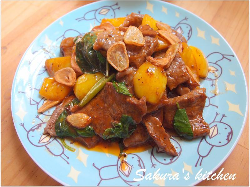 ♥我的手作料理♥ 塔香牛肉