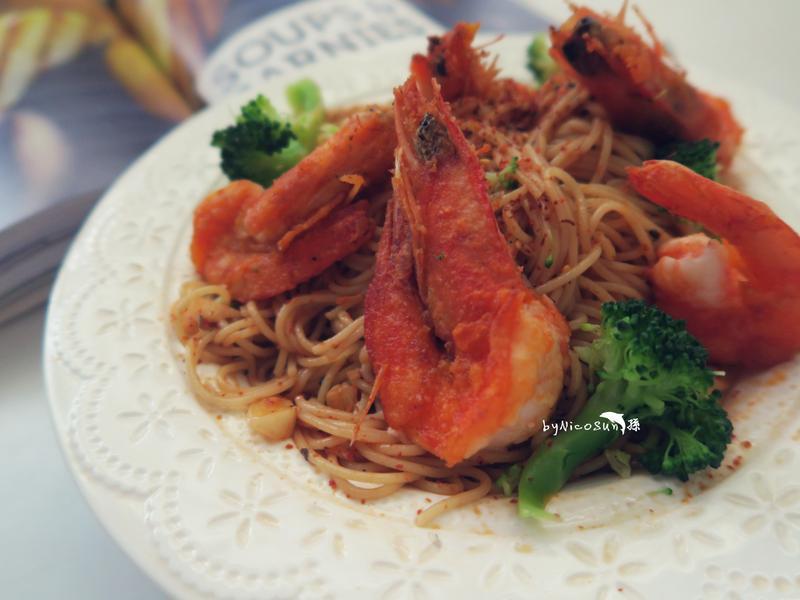 鮮蝦辣味天使麵