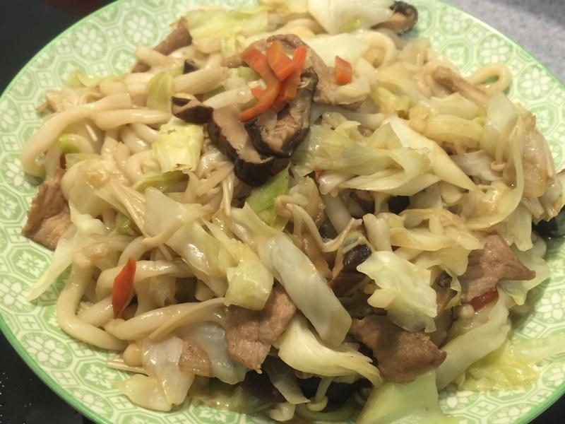 日式炒烏龍麵-也可當便當菜喔