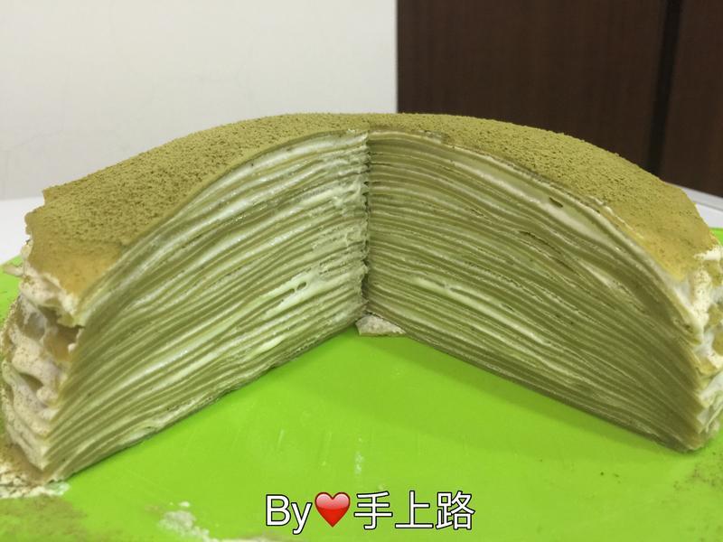 🍵抹茶千層蛋糕🍵~免烤箱