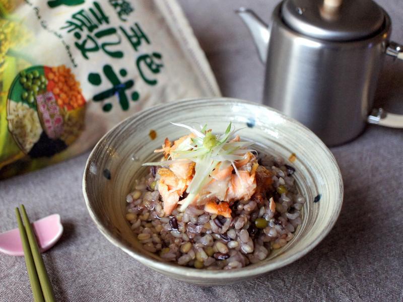 鮭魚十穀茶泡飯【青荷有機】