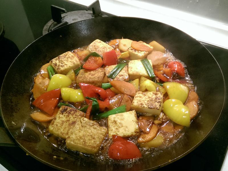 蔥燒鐵板豆腐