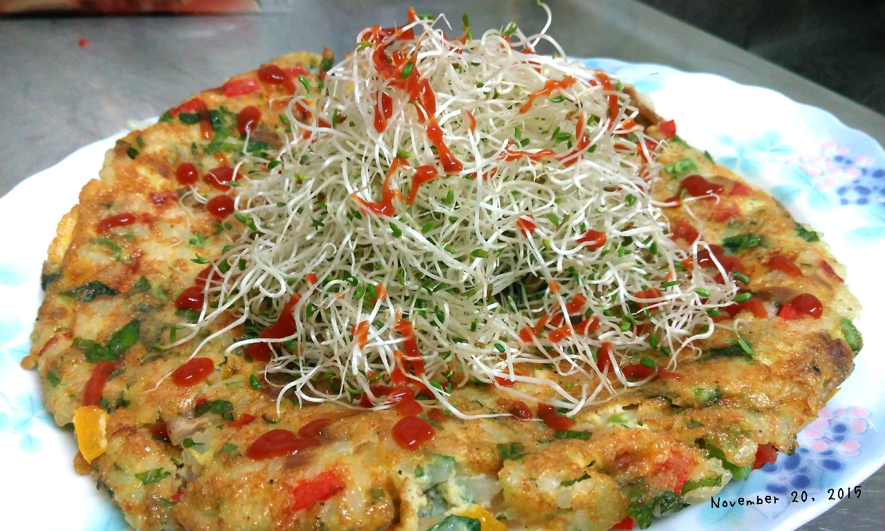 【桂丁土雞創意吃】雞肉蔬菜米餅