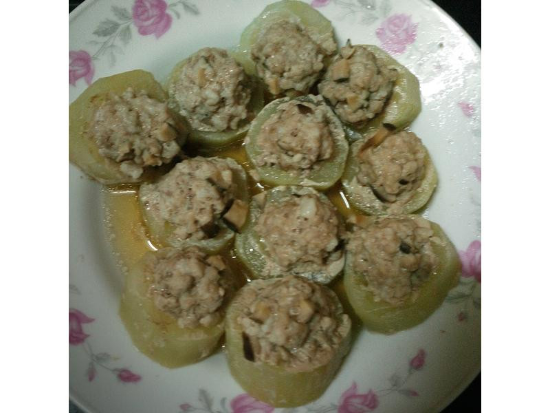 黃瓜鑲香菇絞肉