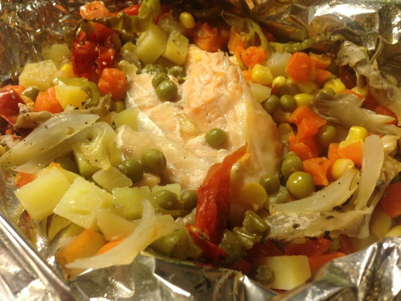 蔬菜烤鮭魚
