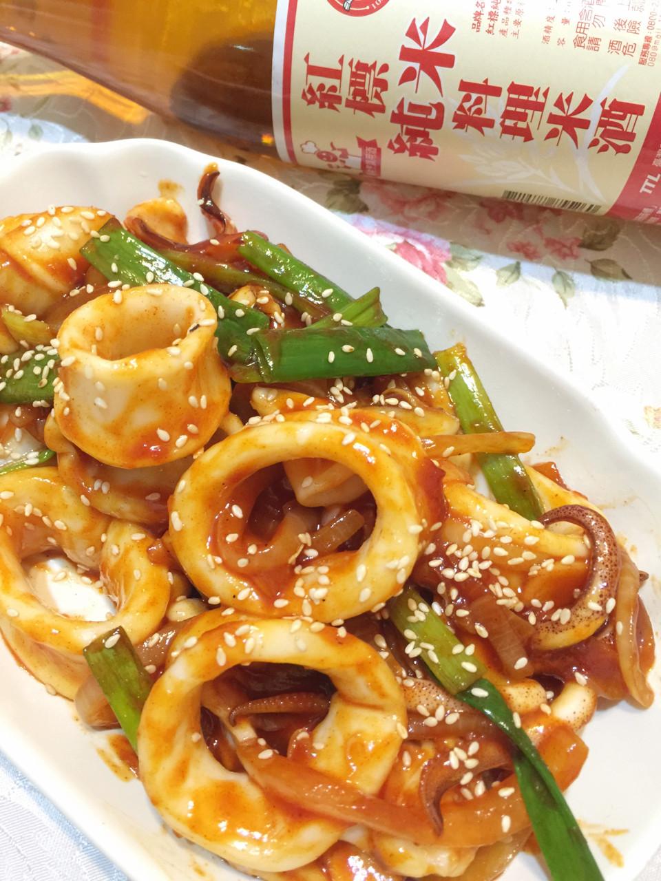 韓式辣醬炒花枝