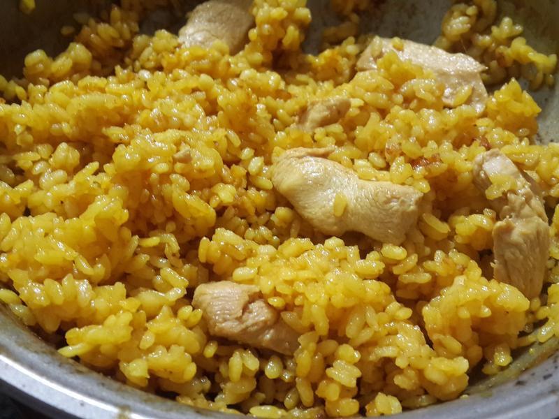 薑黃雞肉飯