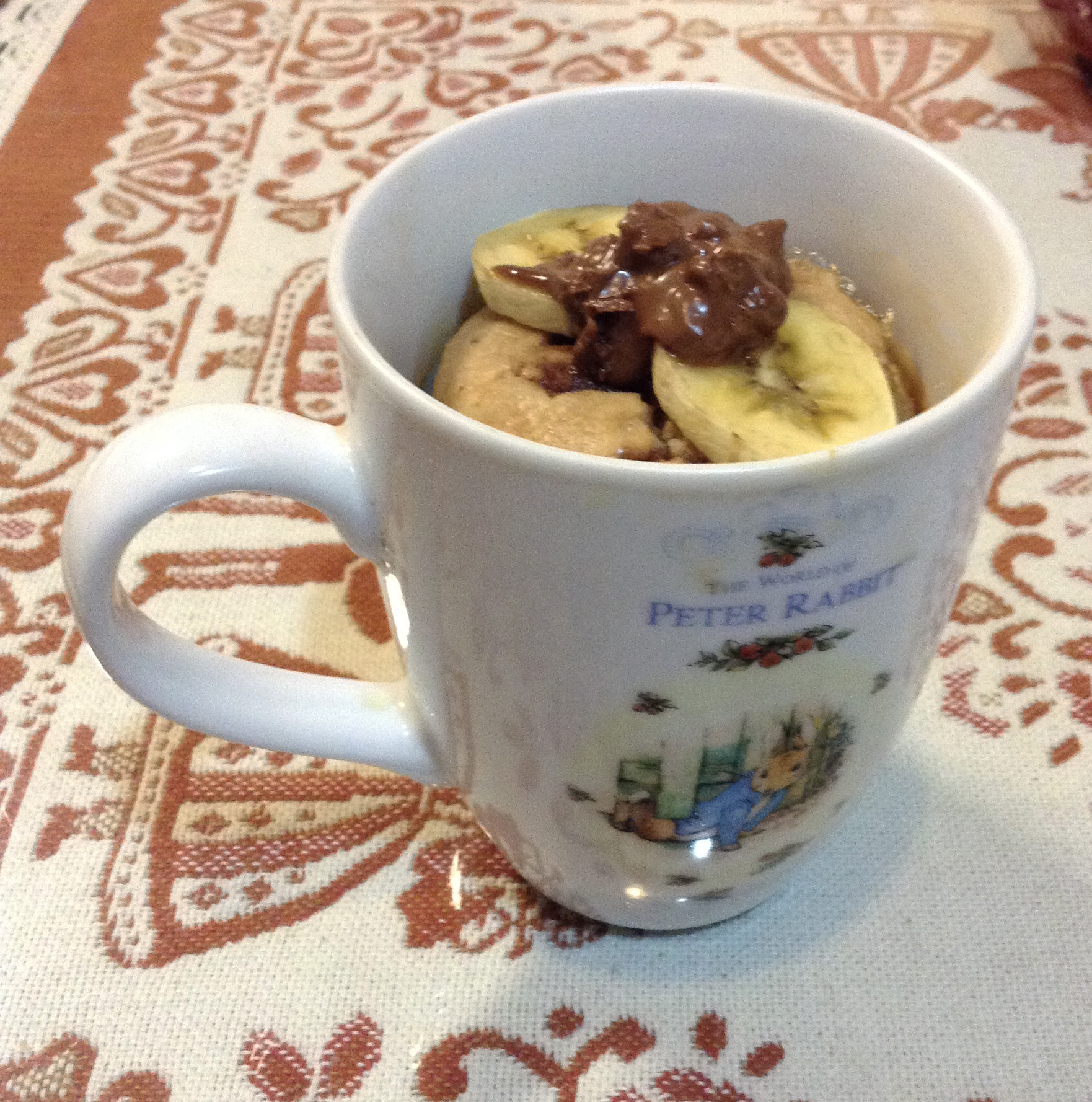 電鍋馬克杯香蕉蛋糕