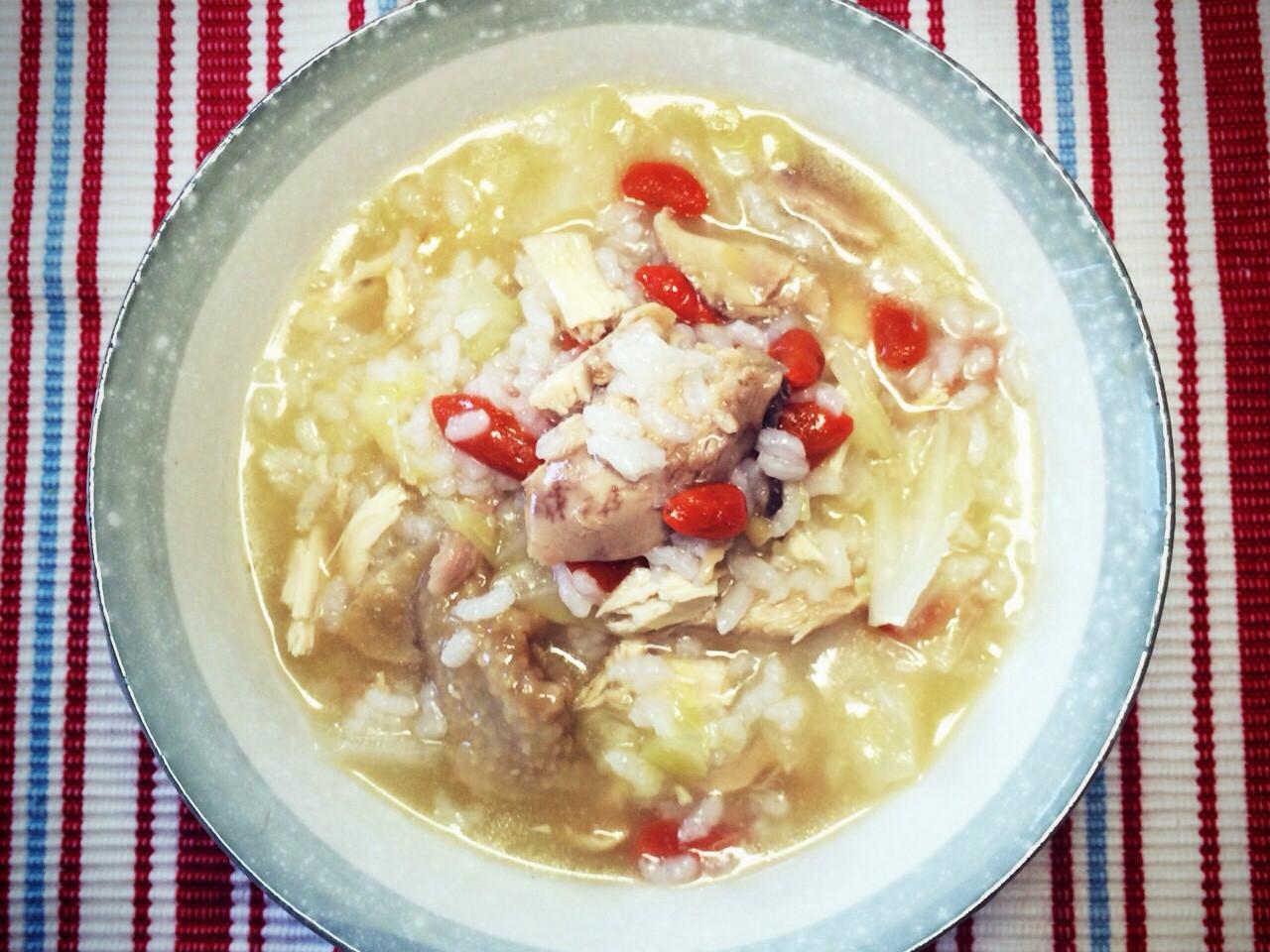 麻油雞肉粥