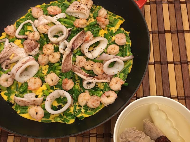 海鮮韭菜烘蛋