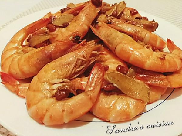 薑片枸杞麻油蝦