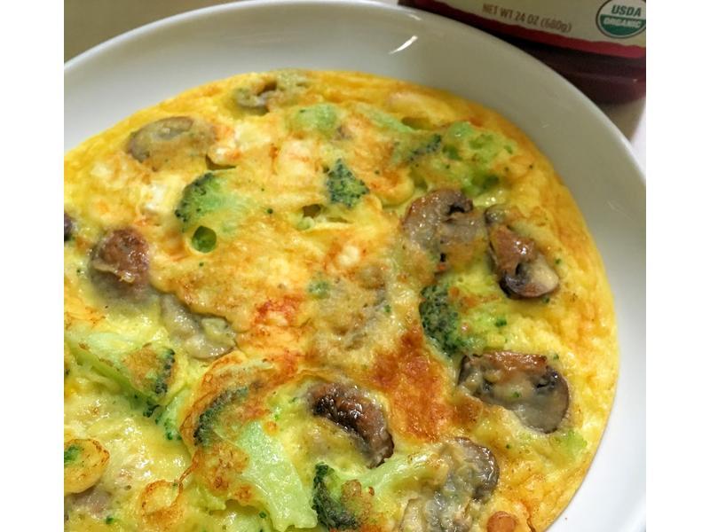 好吃早餐! 奶油蘑菇花椰菜烘蛋