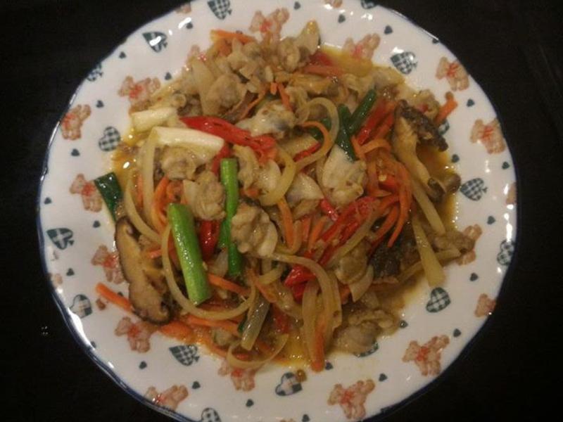 XO干貝醬炒蛤蜊肉