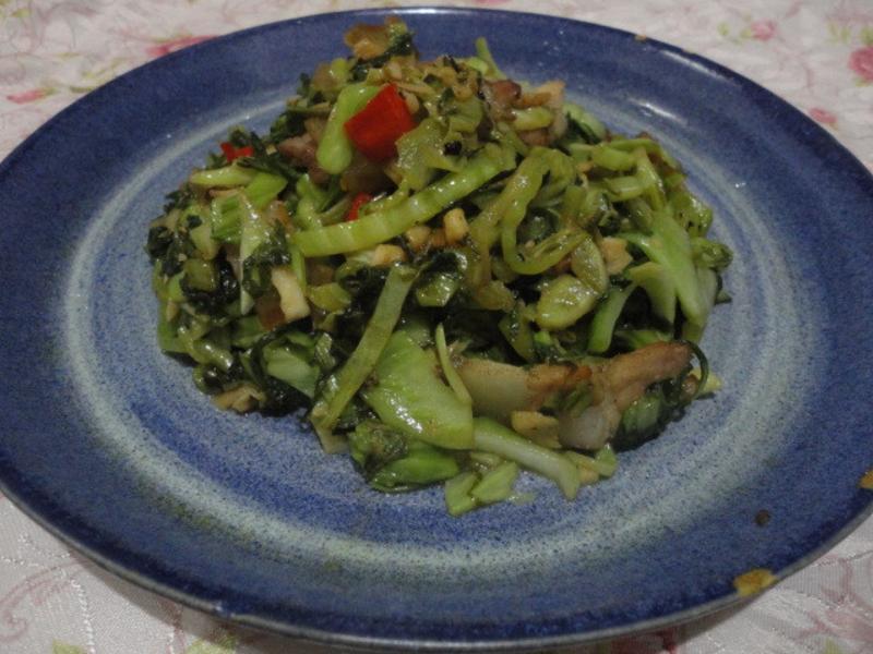 自製鹹菜炒豬肉