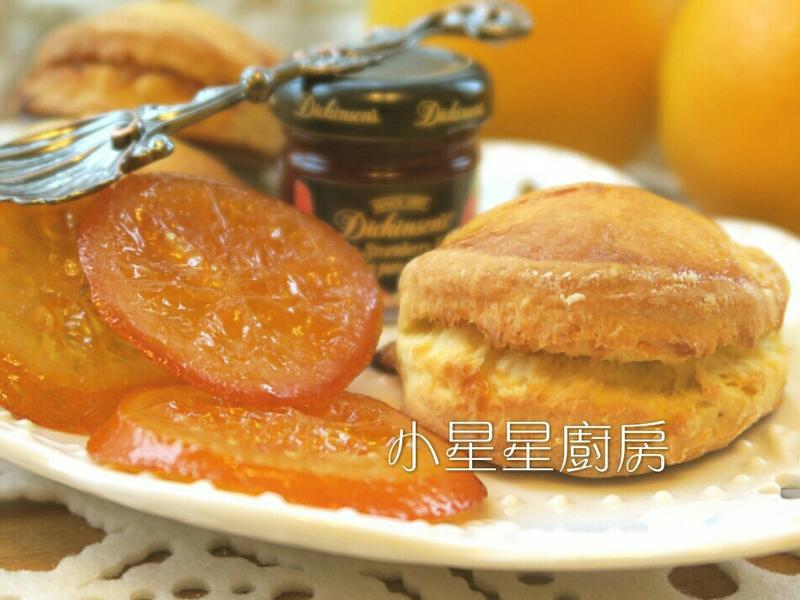 糖漬橙片司康~甜蜜的幸福滋味