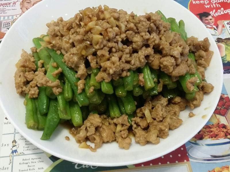 四季豆炒肉碎