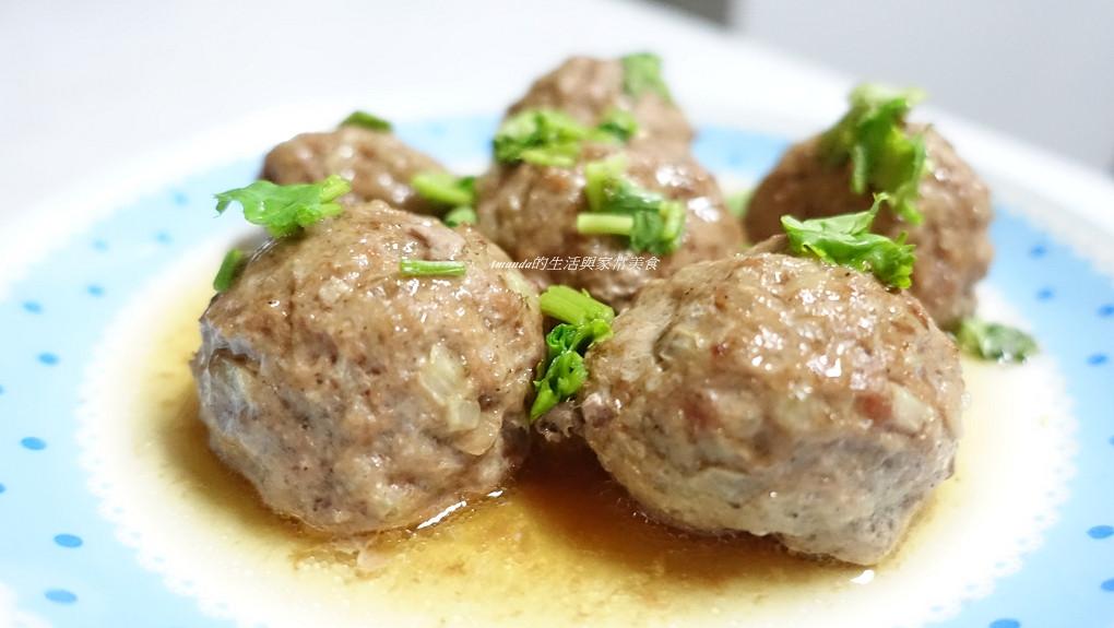 香烤手工肉丸-簡單步驟保留肉汁鮮甜