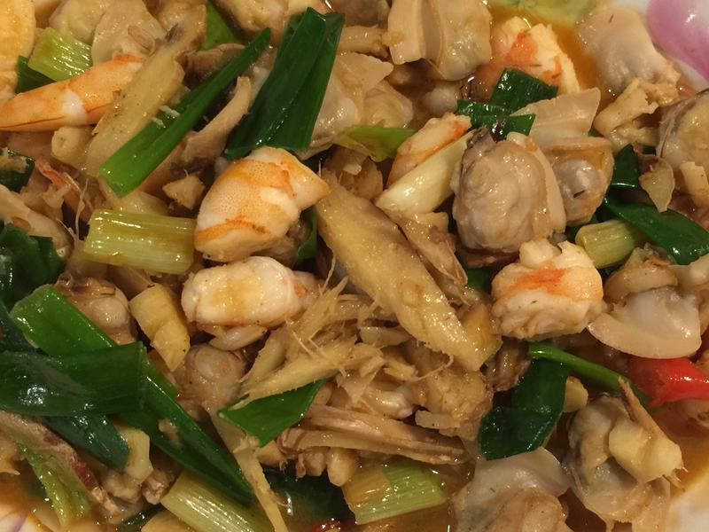 蔥蒜辣爆蛤蜊蝦