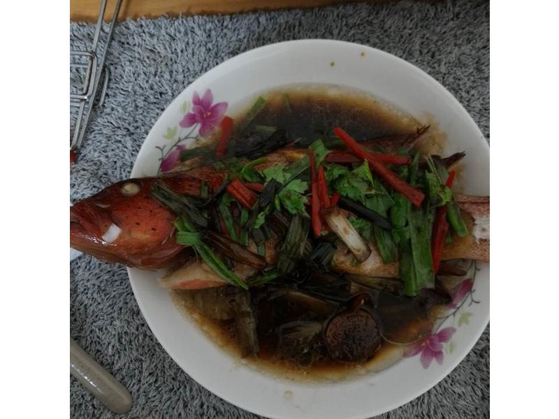 宴席料理-清蒸紅條魚