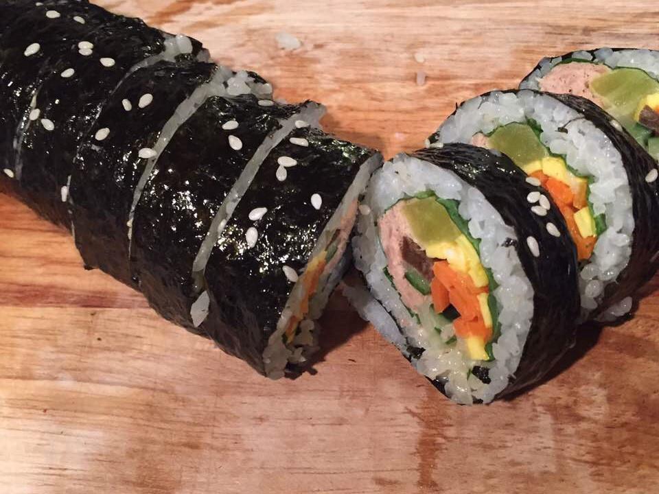韓式美乃滋鮪魚壽司~紫菜包飯大人小孩都愛