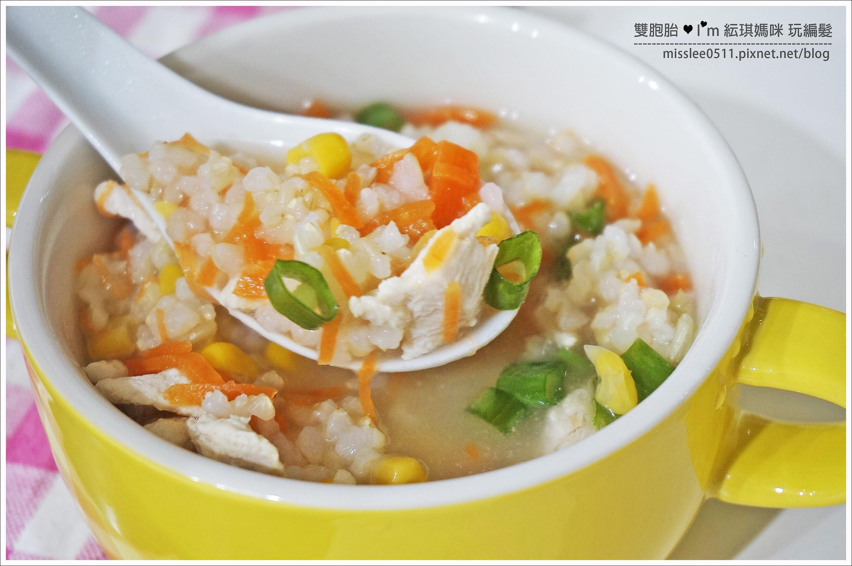 十分鐘快速料理 【雞蓉玉米糙米粥】
