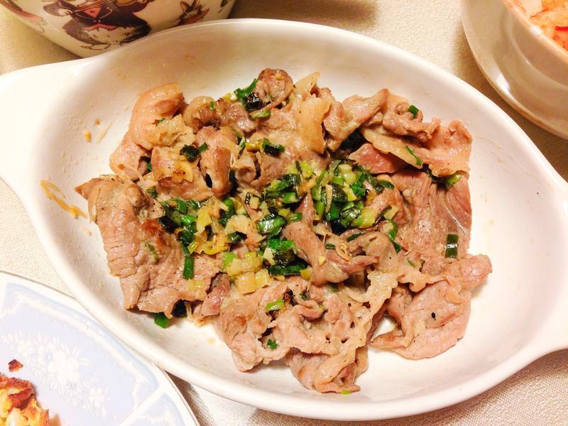 炒梅花豬肉片