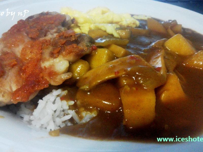 開飯了–日式咖哩+香煎雞腿排 [超方便]